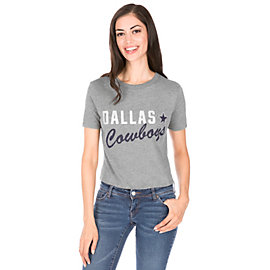 Dallas Cowboys PINK Perfect Mesh Yoke Tee