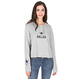 Dallas Cowboys PINK Cutoff Campus Hooded Pullover