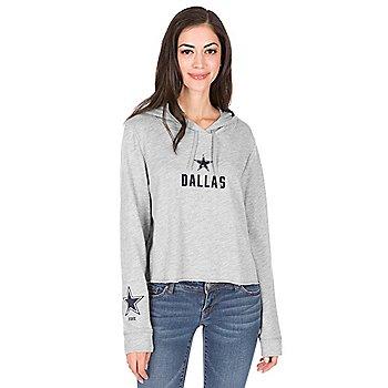 Dallas Cowboys PINK Cutoff Campus Hooded Pullover