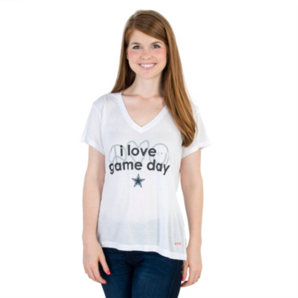 Dallas Cowboys Peace Love World I Love Game Day Victoria Tee Peace Love World Other Womens Cowboys Catalog Dallas Cowboys Pro Shop