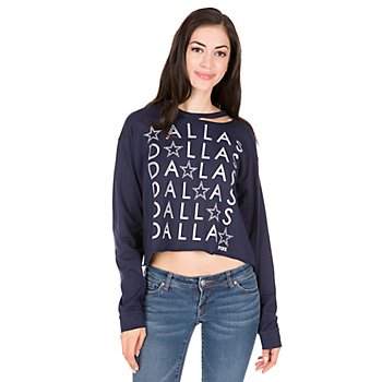 Dallas Cowboys PINK Bling Cut Out Campus Tee