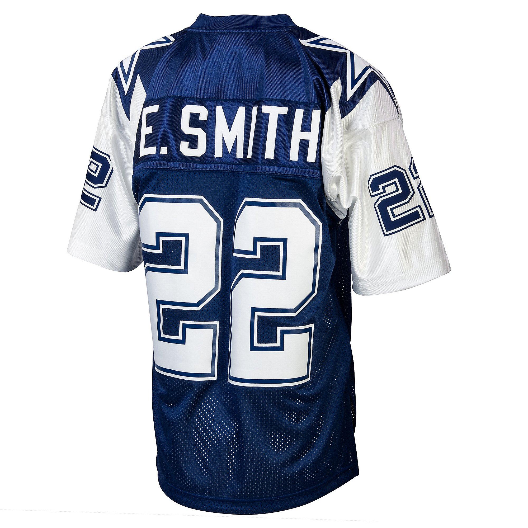 Dallas Cowboys Emmitt Smith 1995 Mitchell & Ness Double Star Jersey