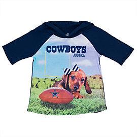 Dallas Cowboys Justice Short Sleeve Hooded Photreal Tee