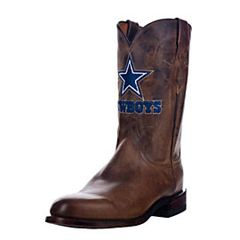 Dallas Cowboys Lucchese Mens Tan Madras Roper Boot - Width D
