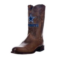 Dallas Cowboys Lucchese Mens Tan Madras Roper Boot - Width D
