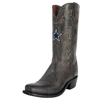 Dallas Cowboys Lucchese Mens Burn Goat Boot - Width D