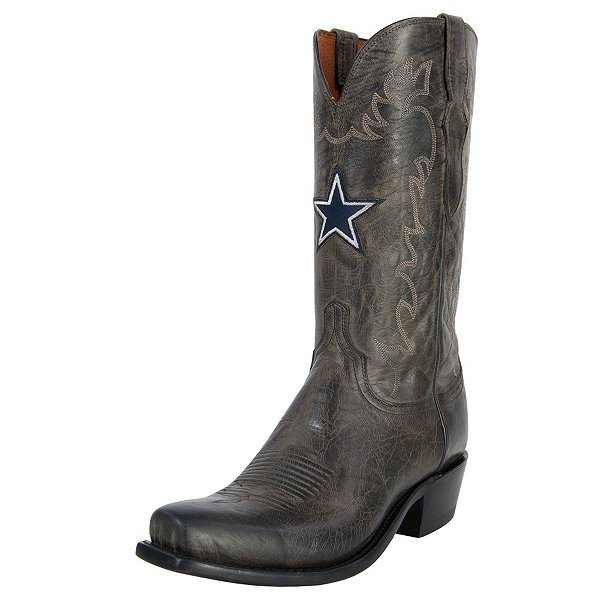 Dallas Cowboys Lucchese Mens Burn Goat Boot - Width D