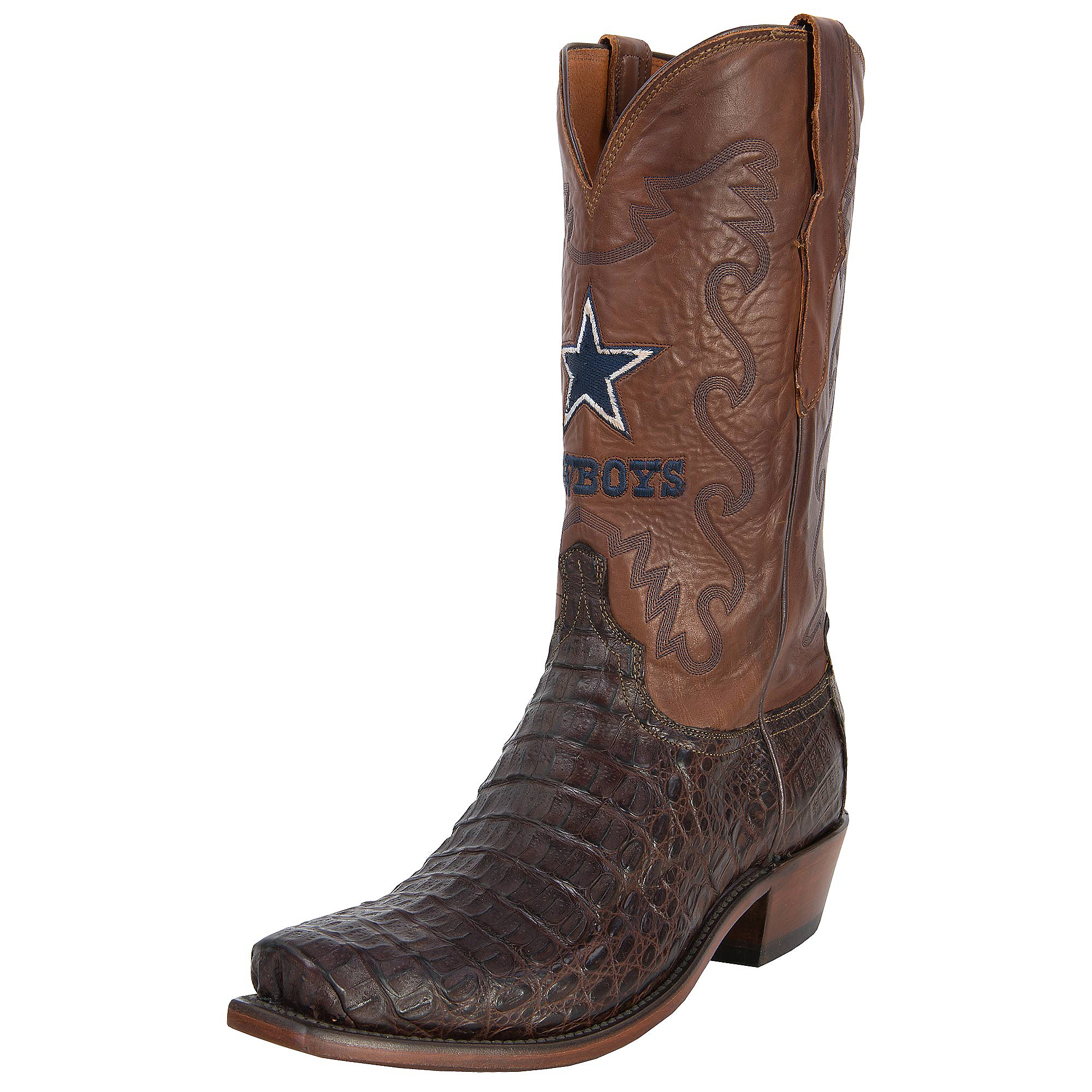 Dallas Cowboys Lucchese Mens Burn Ranch Boot - Width D