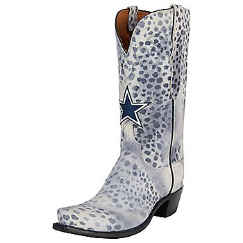 Dallas Cowboys Lucchese Womens Cheetah Print Boot - Width B