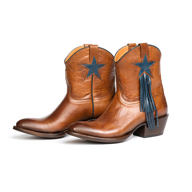 Dallas Cowboys Lucchese Womens Goat Fringe Bootie