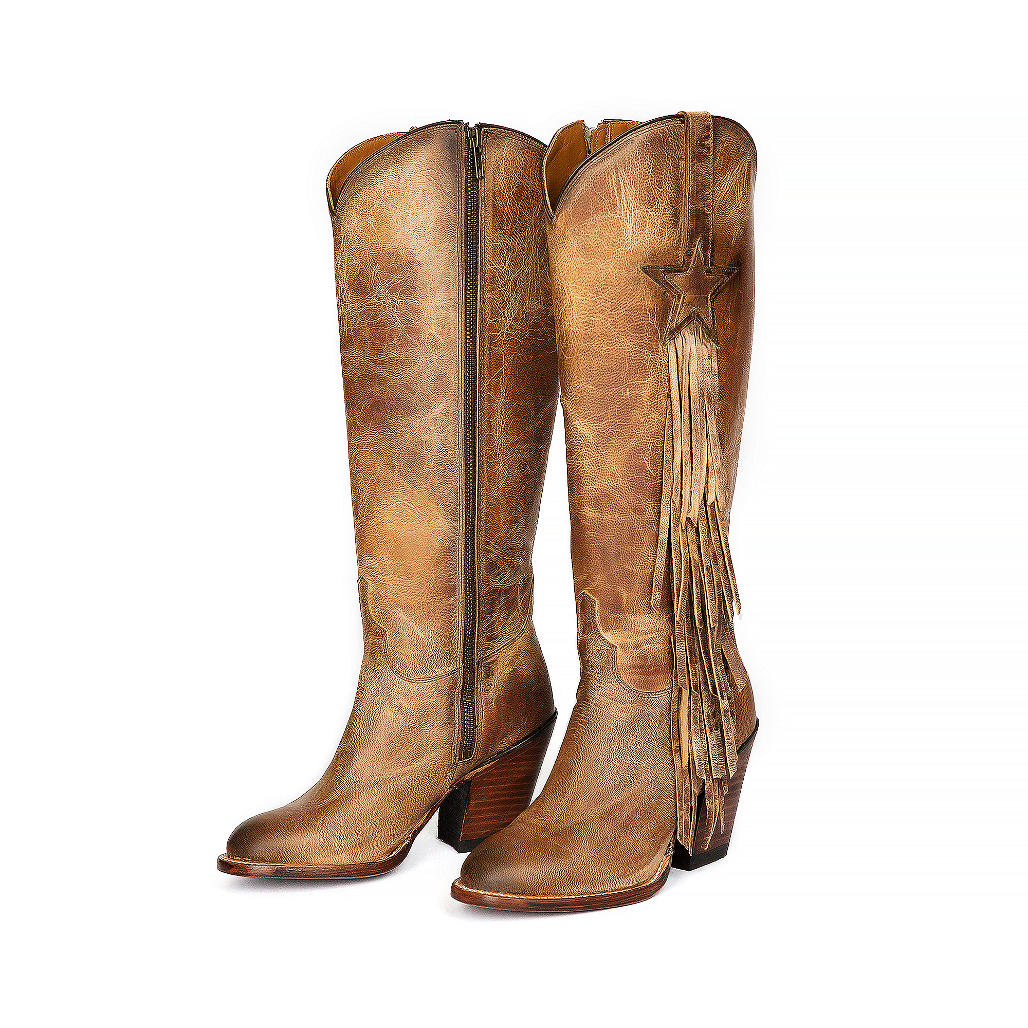 Dallas Cowboys Lucchese Womens Goat Tail Fringe Boot