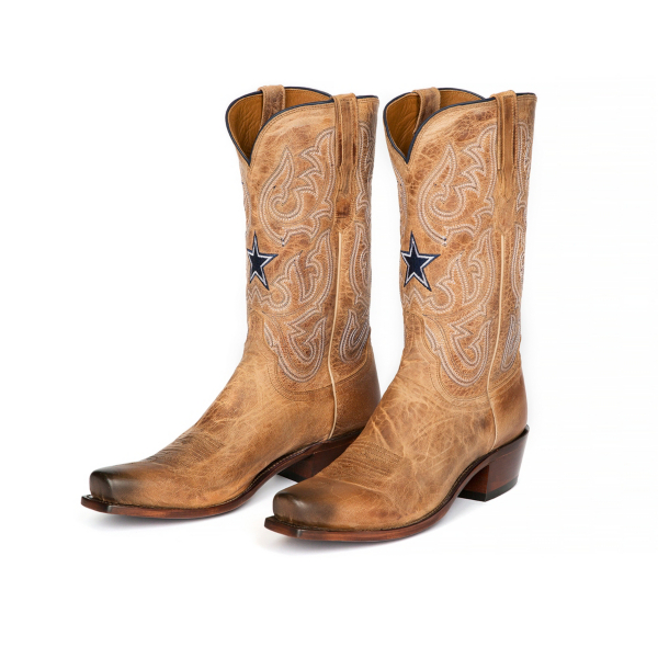 Dallas Cowboys Lucchese Mens Goat Boot