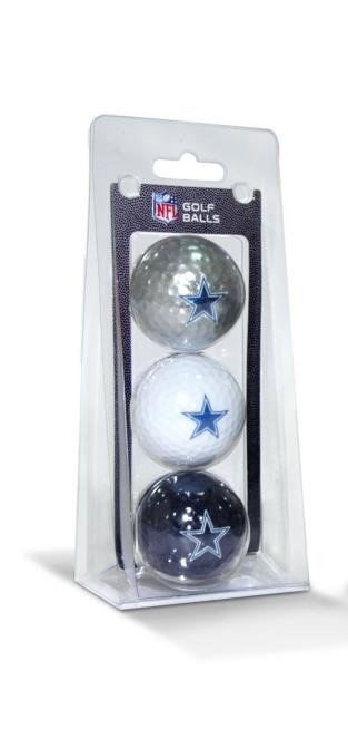 Dallas Cowboys 3 Pack Golf Balls