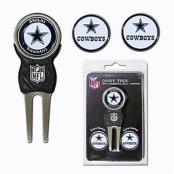 Dallas Cowboys Divot Tool with Ball Markers