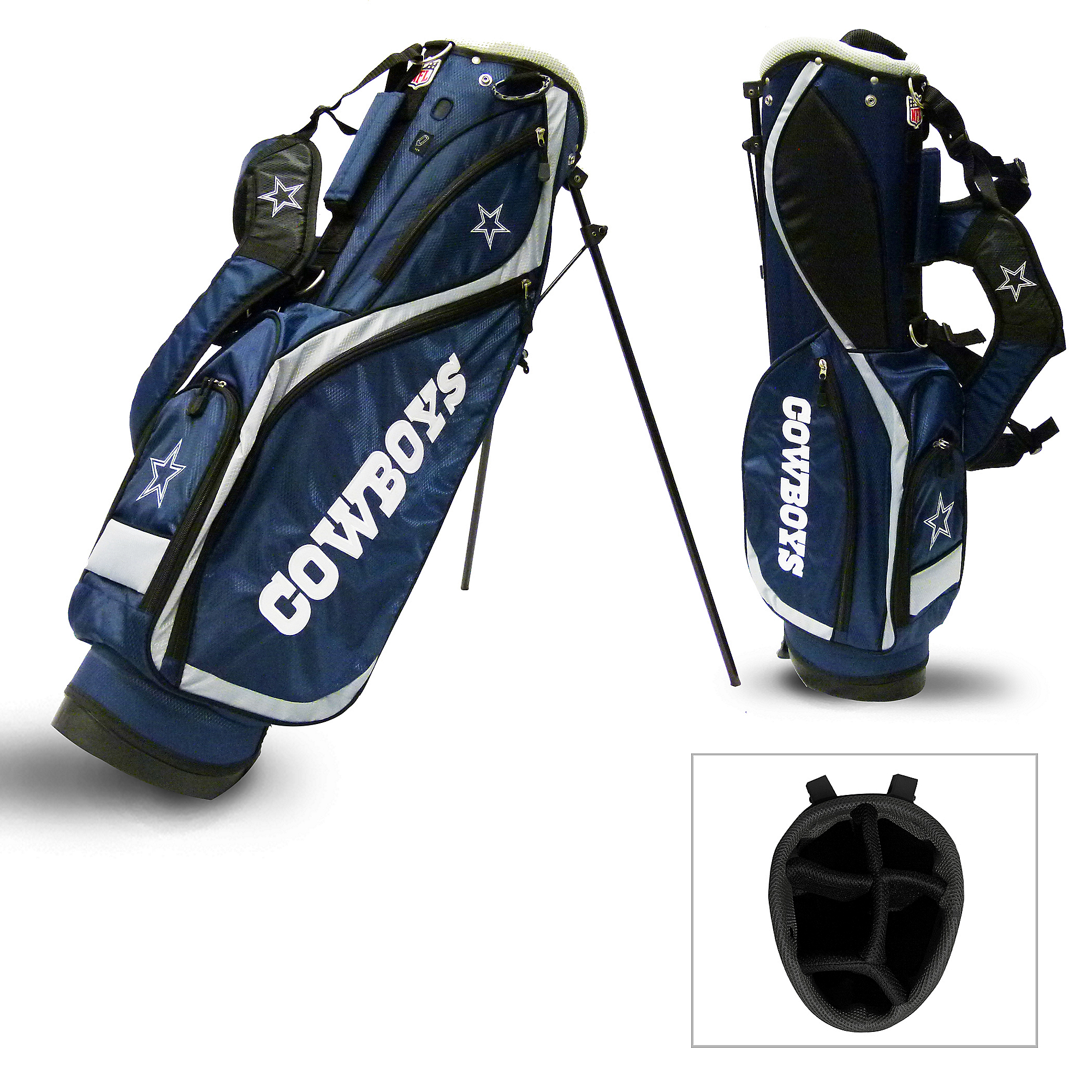 Dallas Cowboys Nassau 5 Way Stand Bag