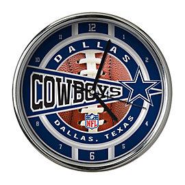 Dallas Cowboys Chrome Wall Clock