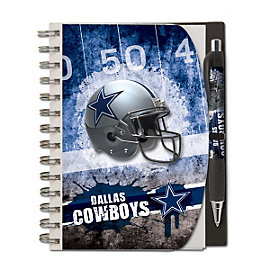 Dallas Cowboys Deluxe Hardcover 5x7 Notebook and Pen Set
