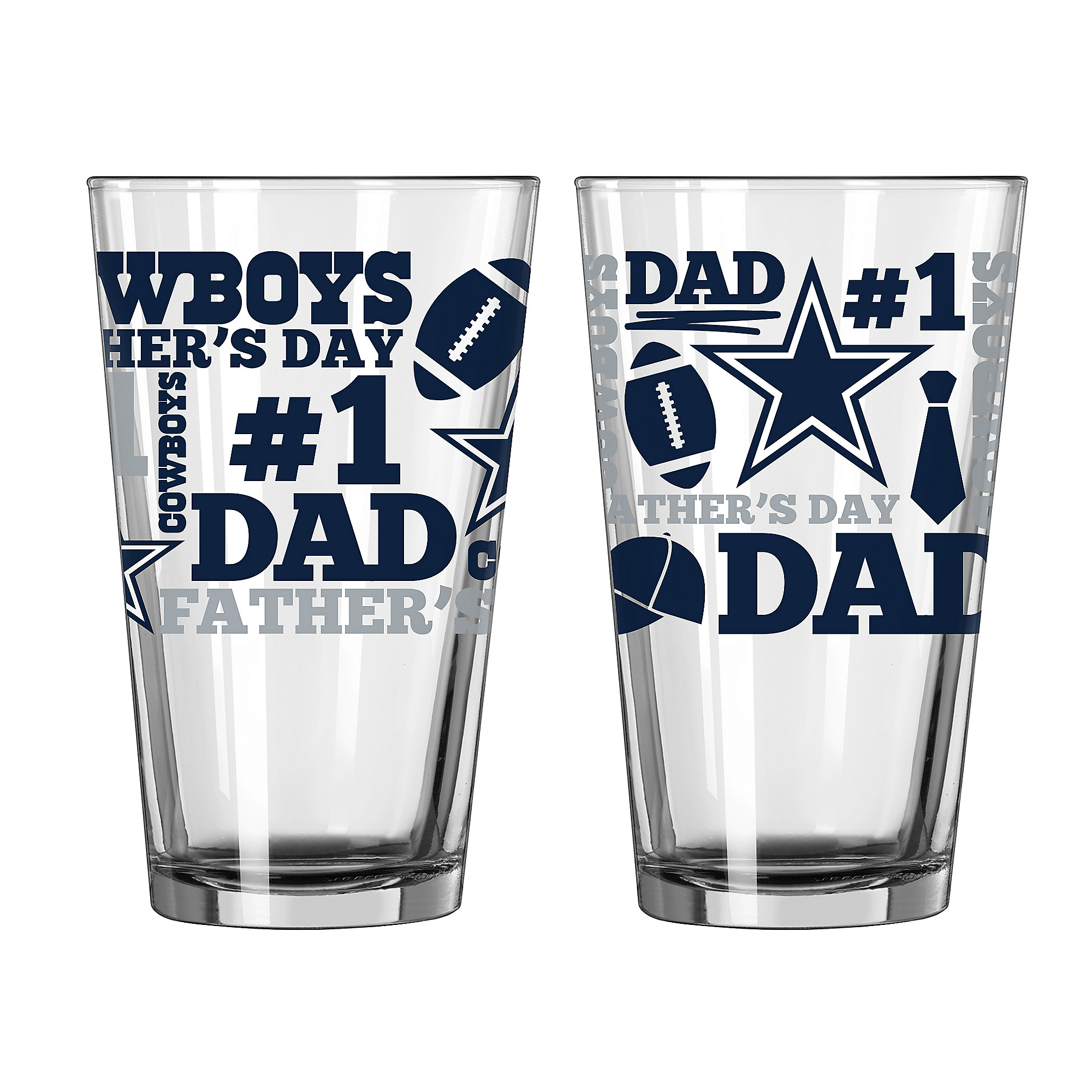 87da6c64d76 Dallas Cowboys Father's Day Pint Glass