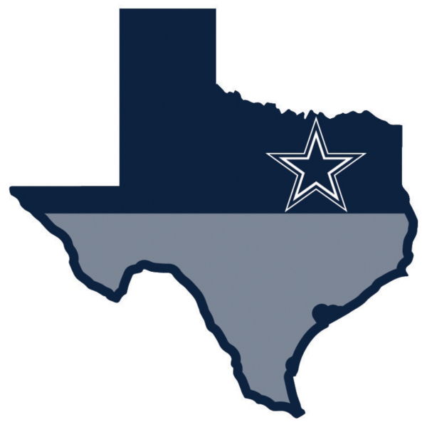 Dallas Cowboys State of Texas Magnet