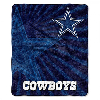 Dallas Cowboys Burst Sherpa Throw