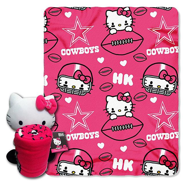 Dallas Cowboys Hello Kitty Hugger with Blanket