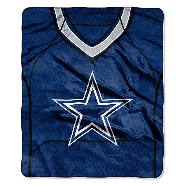 Dallas Cowboys Jersey Raschel Throw Blanket