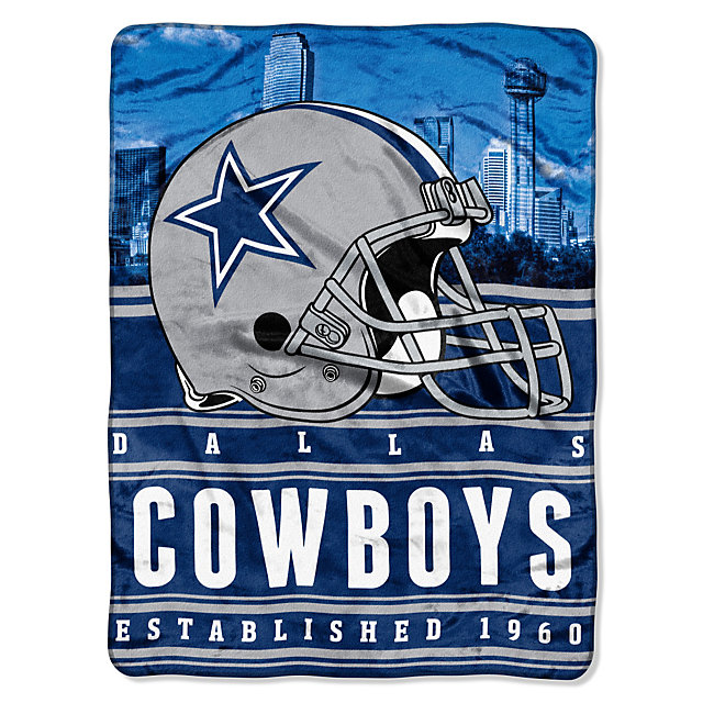 Dallas Cowboys Stacked Silk Touch Throw Blanket