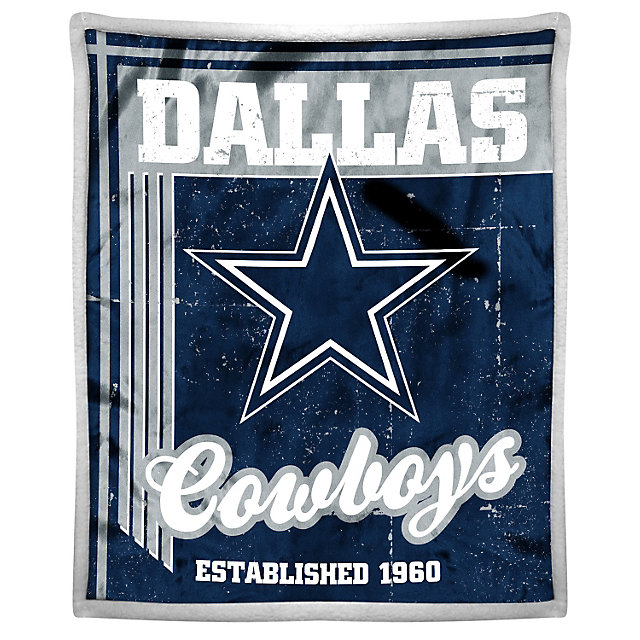 Dallas Cowboys Old School Mink Throw Blanket