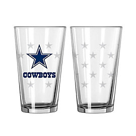 Dallas Cowboys 16oz. Satin Etch Spray Pint Glass