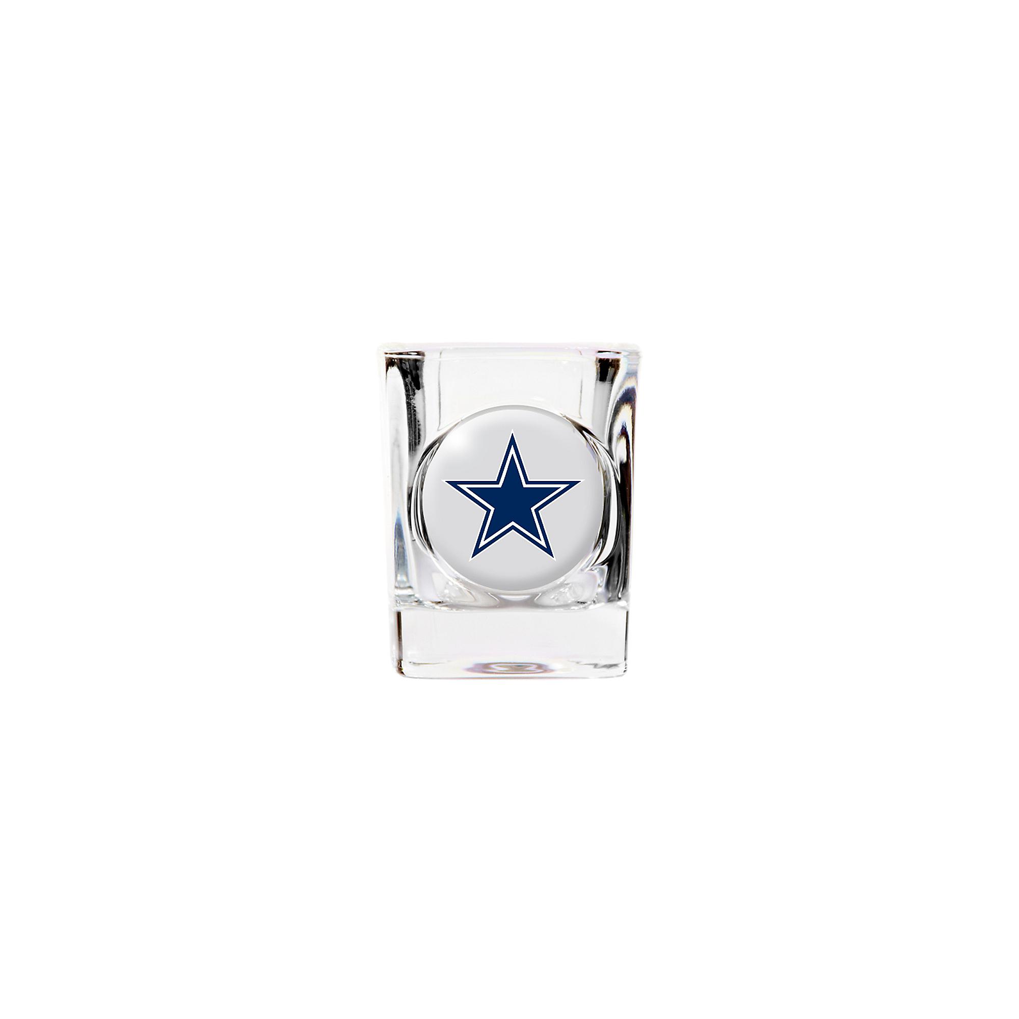 Dallas Cowboys Crystal Emblem Shot Glass