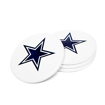Dallas Cowboys 4 Pack Ceramic Coaster Set