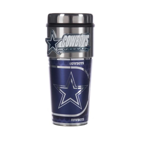 Dallas Cowboys 16 oz. Platinum Tumbler with Metal Logo