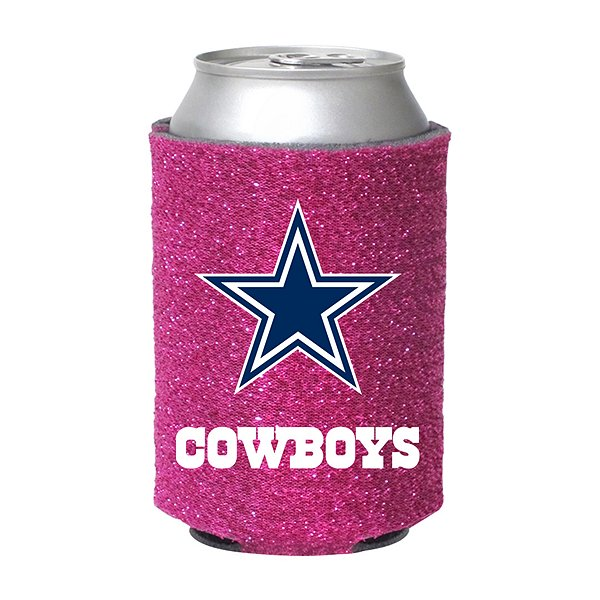 Dallas Cowboys Pink Glitter Can Cooler