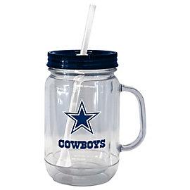 Dallas Cowboys 20 oz. Acrylic Mason Jar Straw Tumbler