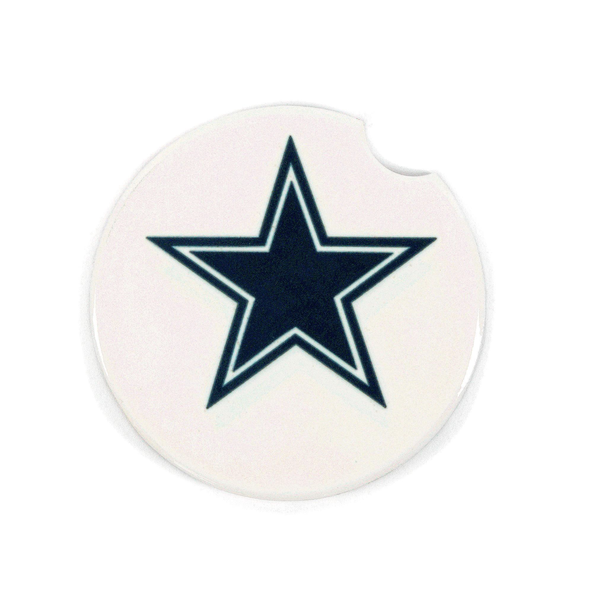 Dallas Cowboys Ceramic White Star Coaster
