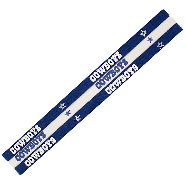 Dallas Cowboys Elastic Headband 3-Pack