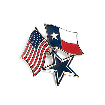 Dallas Cowboys Star and Flags Pin