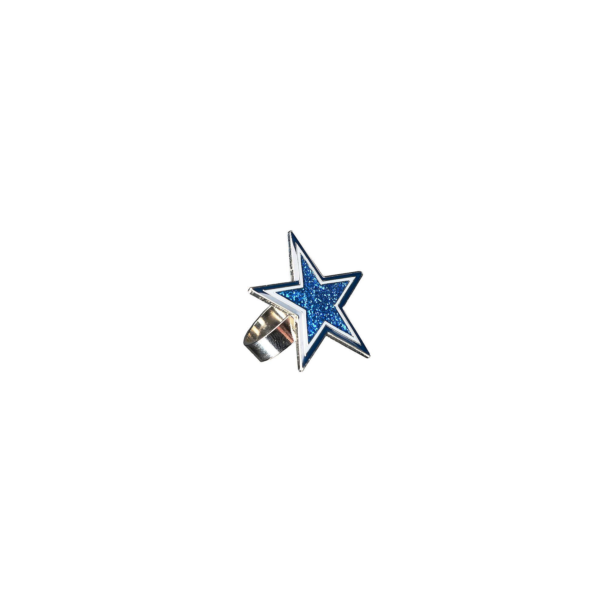 Dallas Cowboys Navy Glitter Star Ring