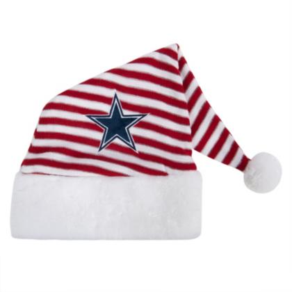 Dallas Cowboys Christmas Hat.Dallas Cowboys Striped Santa Hat Dallas Cowboys Pro Shop