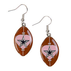 Dallas Cowboys Football Heart Earrings