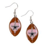 Dallas Cowboys Football Heart Earrings