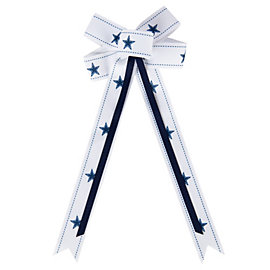 Dallas Cowboys Hair Bow Ribbon Clip