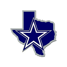 Dallas Cowboys State of Texas Star Lapel Pin