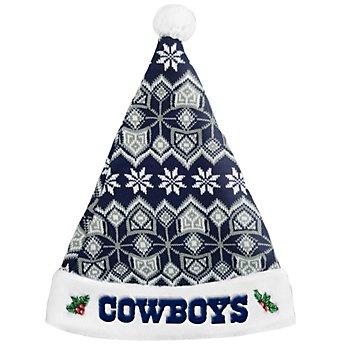 Dallas Cowboys Knit Santa Hat
