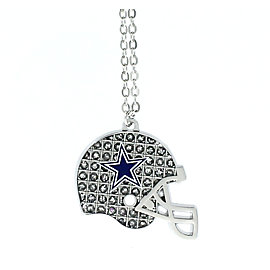 Dallas Cowboys Glitter Helmet Necklace