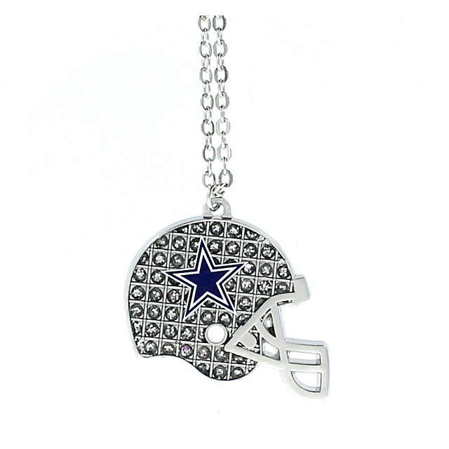 Dallas Cowboys Glitter Helmet Necklace