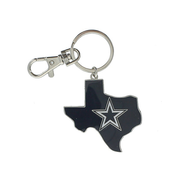 Dallas Cowboys State of Texas Flag Keyring