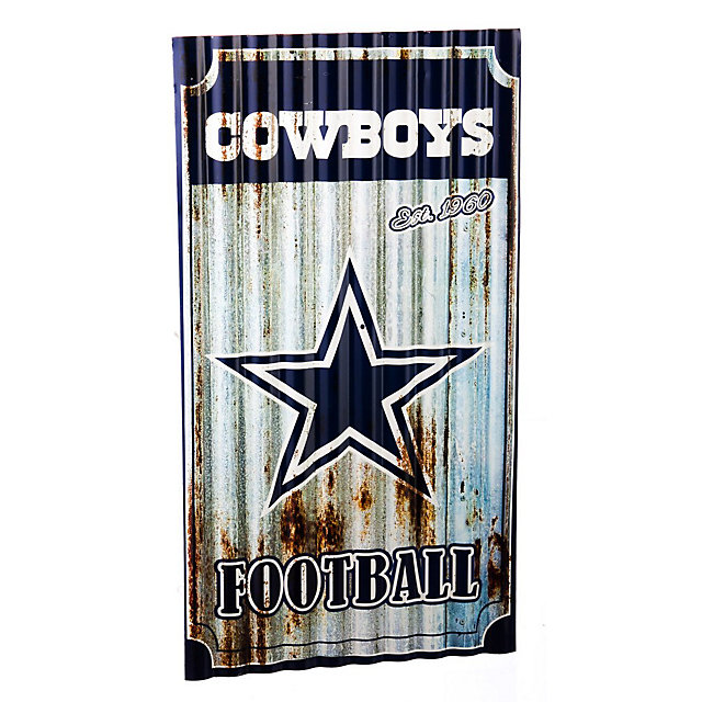 Dallas Cowboys Corrugated Metal Wall Art