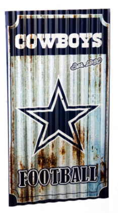 Dallas Cowboys Wall Decor dallas cowboys corrugated metal wall art | home decor | home