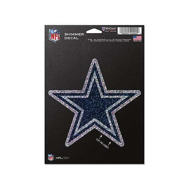 Dallas Cowboys Perfect Cut Shimmer Decal